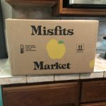 Shipping box from Misfits Market with their logo